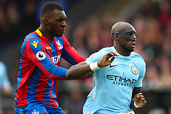 31 December 2017 -  Premier League - Crystal Palace v Manchester City - Eliaquim Mangala of Manchester City tangles with Christian Benteke of Crystal Palace - Photo: Marc Atkins/Offside