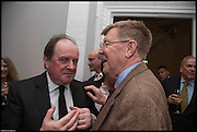 JAMES NAUGHTIE; ALAN BENNETT, James Naughtie: The Madness of July published by Head of Zeus - book launch party, ICA, London. 25 February 2014.