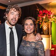 NLD/Amsterdam/20161221 - NOC*NSF Sportgala 2016, Dione de Graaff en partner Nando Boers