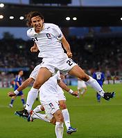"""Esultanza dopo il gol su calcio di rigore di Andrea Pirlo<br /> Zurich/Zurigo 17/6/2008 Stadium """"Letzigrund"""" <br /> France Italy - <br /> Frankrike - Italia<br /> Euro2008 Calcio Group C<br /> Norway only"""