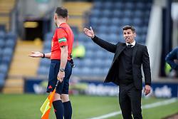 Livingston manager Mark Burchill <br /> Raith Rovers 3 v 0 Livingston, SPFL Ladbrokes Premiership game played 8/8/2015 at Stark's Park.