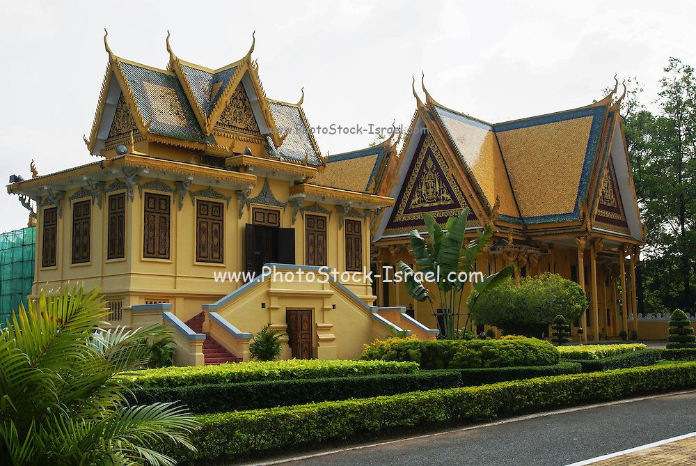 Cambodia,  Phnom Penh, Royal Palace, Moonlight Pavilion