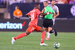 August 7, 2018 - East Rutherford, NJ, U.S. - EAST RUTHERFORD, NJ - AUGUST 07:  Real Madrid forward Vinícius Júnior (28) during the second half of the International Champions Cup game between Real Madrid and AS Roma on August 7, 2018, at Met Life Stadium in East Rutherford, NJ.  (Photo by Rich Graessle/Icon Sportswire) (Credit Image: © Rich Graessle/Icon SMI via ZUMA Press)