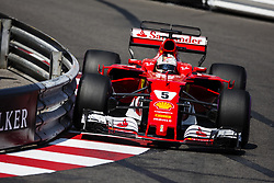 May 27, 2017 - Monte-Carlo, Monaco - 05 VETTEL Sebastian from Germany of Ferrari SF70-H team scuderia Ferrari during the Monaco Grand Prix of the FIA Formula 1 championship, at Monaco on 27th of 2017. (Credit Image: © Xavier Bonilla/NurPhoto via ZUMA Press)