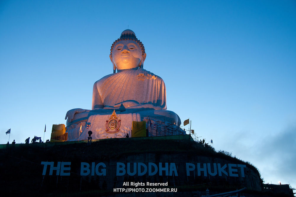 The Big Buddha monument at dawn on Phuket, Thailand