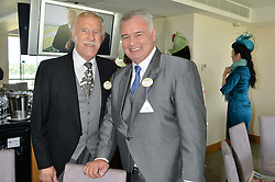 Left to right, SIR BRUCE FORSYTH and EAMONN HOLMES at the first day of the 2014 Royal Ascot Racing Festival, Ascot Racecourse, Ascot, Berkshire on 17th June 2014.