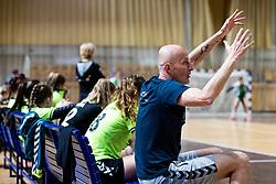 Ales Veber, assistant coach of RK Olimpija during handball match between RK Olimpija and ZRK Krka Novo Mesto in Round #10 of National Youth League in Season 2020-21, on May 2, 2021 in Hala Tivoli, Ljubljana, Slovenia. Photo by Matic Klansek Velej / Sportida