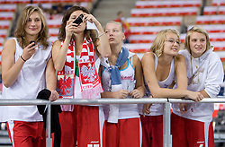 Polish fans during the EuroBasket 2009 Group F match between Spain and Turkey, on September 12, 2009 in Arena Lodz, Hala Sportowa, Lodz, Poland.  (Photo by Vid Ponikvar / Sportida)