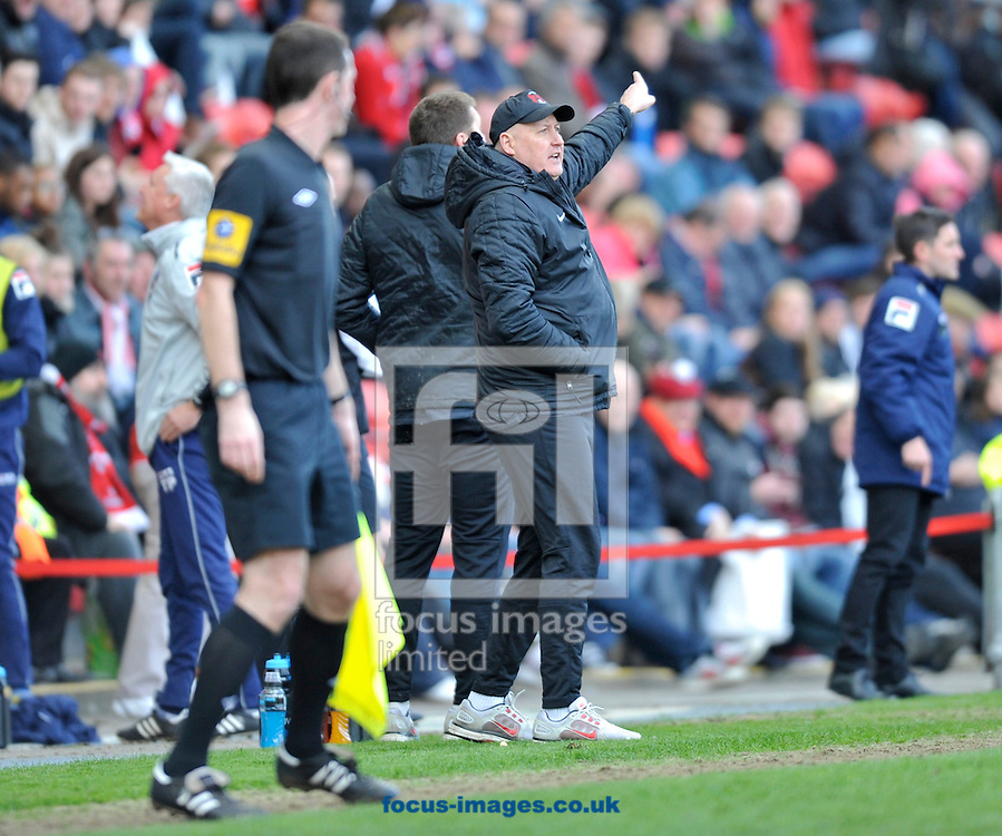 Picture by Alan Stanford/Focus Images Ltd +44 7915 056117.27/04/2013.Manager Russell Slade of Leyton Orient  during the npower League 1 match at the Matchroom Stadium, London.. .