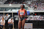 Lorraine Ugen of Great Britain in the Long Jump during the Sainsbury's Anniversary Games at the Queen Elizabeth II Olympic Park, London, United Kingdom on 25 July 2015. Photo by Phil Duncan.