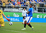 01/13/2018. Orlando, USA.  <br /> <br /> RANGERS FC v CORINTHIANS  2018 Florida Cup.  <br /> <br /> Alfredo Morelos of Rangers has an effort saved on goal by Corinthians keeper Cassio during THE 2018 FLORIDA CUP match between RANGERS FC and CORINTHIANS.<br /> <br /> At  Spectrum Stadium, Orlando.<br /> Pic: Mark Davison /PLPA