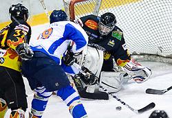 Rok Kozelj of Slavija at SLOHOKEJ league ice hockey match between HK Slavija and HK Triglav Kranj, on February 3, 2010 in Arena Zalog, Ljubljana, Slovenia. Triglaw won 4:1. (Photo by Vid Ponikvar / Sportida)