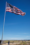The flag at the Flag Day ceremony.