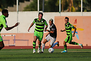 Forest Green Rovers Scott Laird(3) runs forward during the Pre-Season Friendly match between SC Farense and Forest Green Rovers at Estadio Municipal de Albufeira, Albufeira, Portugal on 25 July 2017. Photo by Shane Healey.