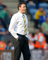 Photo: Steve Bond/Richard Lane Photography. Leicester City v Watford. Coca Cola Championship. 17/04/2010. Malky Mackay can only watch as Watford go 4 down