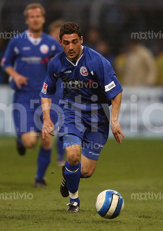 Jena , 300307 , Saison 2006/2007 ; Fussball 2.Bundesliga FC Carl Zeiss Jena - Hansa Rostock  Djordjije CETKOVIC (Rostock) am Ball