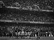 The Bears prepare for a fourth down near the goal line in the first quarter of the Chicago Bears 35-24 win over Seattle Seahawks in an NFL divisional playoff game Sunday, Jan. 16, 2011 at Soldier Field.