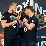 NLD/Rotterdam/20200224 - Stare down Boxing Influencers 2020, Henny Seroeyen vs. Sidney Bout