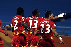 26.06.2010, Royal Bafokeng Stadium, Rustenburg, RSA, FIFA WM 2010, United states of America (USA) vs Ghana (GHA), im Bild L'esultanza di Prince Boateng (Ghana) per il gol dell'1-0  .Prince Boateng 's celebration for his 1-0 leading goal scored for Ghana.. EXPA Pictures © 2010, PhotoCredit: EXPA/ InsideFoto/ Giorgio Perottino +++ for AUT and SLO only +++ / SPORTIDA PHOTO AGENCY