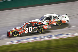 July 13, 2018 - Sparta, Kentucky, United States of America - Christopher Bell (20) and John Hunter Nemechek (42) battle for position during the Alsco 300 at Kentucky Speedway in Sparta, Kentucky. (Credit Image: © Chris Owens Asp Inc/ASP via ZUMA Wire)
