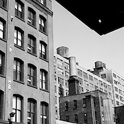 A Panoramic view of West 25th Street, Chelsea New York City, which is home to a number of famous NewYork galleries including Pace Wildenstein (right), Agora Contemporary fine art gallery, Betty Cuningham Gallery, Marlborough Gallery, Dillon Galleries, Tria Gallery, Yossi Milo Gallery, Kent Fine Art, Cavin-Morris Gallery, ClampArt, Chelm and Read, Sears-Peyton Gallery, CUE Art Foundation, Robert Steele Gallery, Chelsea Art District, Chelsea,. Manhattan, New York, USA. 23rd July 2011. Photo Tim Clayton