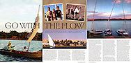 Tear sheet from TNT magazine of an article I wrote and photographed about sailing on the Nile River.