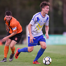 BRISBANE, AUSTRALIA - JANUARY 8: Sebastian Scaroni of Strikers in action during the Kappa Silver Boot Group A match between Brisbane Strikers and Eastern Suburbs on January 8, 2017 in Brisbane, Australia. (Photo by Patrick Kearney)