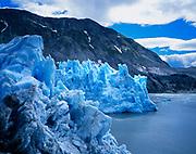 Face of McBride Glacier, Muir Inlet, Glacier Bay National Park, Alaska.