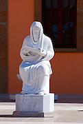 Israel, Caesarea, Ralli Museum of modern art Statue of Judah Halevi January 2007