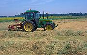AT5CJ4 Tractor hay making Butley Suffolk England