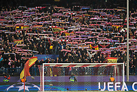 Atletico de Madrid's fans raise their flags at the end of the UEFA Champions League match. March 15,2016. (ALTERPHOTOS/Borja B.Hojas)