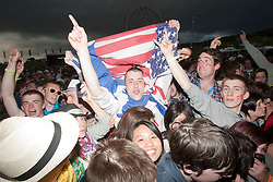 Fans at the main stage..Rockness, Friday 11th June..Pic ©2010 Michael Schofield. All Rights Reserved.