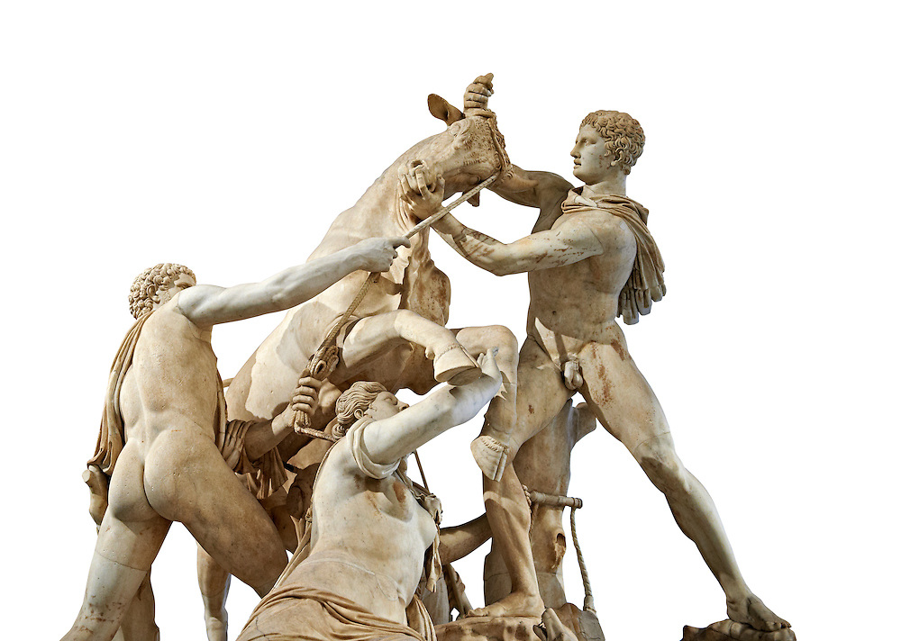 2nd century AD Roman marble sculpture known as the Farnese Bull from the Baths of Caracalla, Rome, Farnese Collection, Museum of Archaeology, Italy ..<br /> <br /> If you prefer to buy from our ALAMY STOCK LIBRARY page at https://www.alamy.com/portfolio/paul-williams-funkystock/greco-roman-sculptures.html . Type -    Naples    - into LOWER SEARCH WITHIN GALLERY box - Refine search by adding a subject, place, background colour, museum etc.<br /> <br /> Visit our ROMAN WORLD PHOTO COLLECTIONS for more photos to download or buy as wall art prints https://funkystock.photoshelter.com/gallery-collection/The-Romans-Art-Artefacts-Antiquities-Historic-Sites-Pictures-Images/C0000r2uLJJo9_s0
