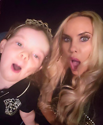 """Coco Austin releases a photo on Twitter with the following caption: """"""""Pics continued from """"Hip Hop Legends"""".......<br /> From selfies with Chanel to her looking at me crazy while trying to use the OG phone to Ice breaking it down in the greenroom all while Chanel holds her apples trying to look cute...  A lot of personalities in my family"""""""". Photo Credit: Twitter *** No USA Distribution *** For Editorial Use Only *** Not to be Published in Books or Photo Books ***  Please note: Fees charged by the agency are for the agency's services only, and do not, nor are they intended to, convey to the user any ownership of Copyright or License in the material. The agency does not claim any ownership including but not limited to Copyright or License in the attached material. By publishing this material you expressly agree to indemnify and to hold the agency and its directors, shareholders and employees harmless from any loss, claims, damages, demands, expenses (including legal fees), or any causes of action or allegation against the agency arising out of or connected in any way with publication of the material."""