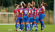 Palace kick things off for the new season with a cheers before the Pre-Season Friendly match between Crystal Palace LFC and Queens Park Rangers Ladies at the The Stadium, Bromley, United Kingdom on 19 July 2015. Photo by Michael Hulf.