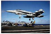 F/A-18 Hornet making trap