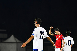 October 5, 2017 - San Marino, SAN MARINO - 171005 Ole Kristian Seln¾s of Norway celebrates 6-0 while Michele Cevoli looks dejected during the FIFA World Cup Qualifier match between San Marino and Norway on October 5, 2017 in San Marino. .Photo: Fredrik Varfjell / BILDBYRN / kod FV / 150027 (Credit Image: © Fredrik Varfjell/Bildbyran via ZUMA Wire)