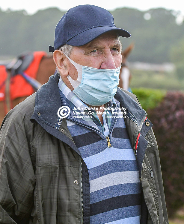 Trainer Eamonn Delany,  at Bellewstown Races.<br /> <br /> Photo: GERRY SHANAHAN-WWW.QUIRKE.IE<br /> <br /> 03-07-2021