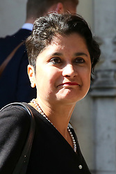 © Licensed to London News Pictures. 17/09/2019. London, UK. Baroness Shami Chakrabarti, the Shadow Attorney General leaves UK Supreme Court in London on the first day of the three day appeal hearing in the multiple legal challenges against the Prime Minister Boris Johnson's decision to prorogue Parliament ahead of a Queen's speech on 14 October. Eleven instead of the usual nine Supreme Court justices will hear the politically charged claim that Boris Johnson acted unlawfully in advising the Queen to suspend parliament for five weeks in order to stifle debate over the Brexit crisis. It is the first time the Supreme Court has been summoned for an emergency hearing outside legal term time. Lady Hale, the first female president of the court who retires next January, will preside. Photo credit: Dinendra Haria/LNP