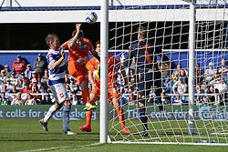 Blackpool's forward David Goodwillie scores a goal - Photo mandatory by-line: Mitchell Gunn/JMP - Tel: Mobile: 07966 386802 29/03/2014 - SPORT - FOOTBALL - Loftus Road - London - Queens Park Rangers v Blackpool - Championship