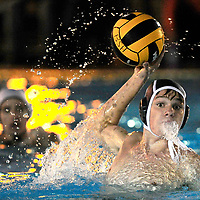 Bend's Alex Moore (3) fires a shot at goal during the first period against Summit on Thursday, Sept 22, 2016, at Juniper Swim and Fitness.