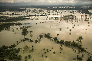 From a helicopter of United States Southern Command operating in Guatemala, aerial view of the huge flood in the north of Alta Verapáz and Quiché departments caused by the strong rains falled down because the hurricane Eta and Iota that hit Central America.<br /> <br /> Central America is confronting a catastrophe: the mass destruction caused by two ferocious hurricanes that hit in quick succession in November pummeling the same fragile countries, twice. The storms, Eta and Iota, the most powerful in an already record breaking season, demolished tens of thousands of homes, wiped out infrastructure and swallowed vast swaths of cropland.<br /> <br /> November 26, 2020.