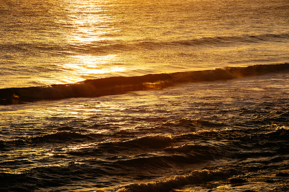 Sunrise colours reflecting over the water at Burleigh Head National Park