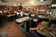 Patrons enjoy meal at Dots Cafe, oldest cafe in Claremore, Oklahoma.