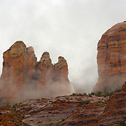 Fog in Sedona Arizona shot in the winter months.