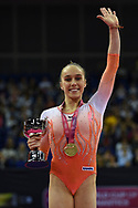Tabea Alt of Germany (GER) wins the woman's gold medal during the iPro Sport World Cup of Gymnastics 2017 at the O2 Arena, London, United Kingdom on 8 April 2017. Photo by Martin Cole.