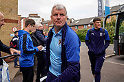 AFC Wimbledon Assistant Manager Glyn Hodges arrives at Peterborough United during the EFL Sky Bet League 1 match between Peterborough United and AFC Wimbledon at London Road, Peterborough, England on 28 September 2019.