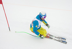 Rok Perko during last race of Andrej Jerman, Slovenian best downhill skier when he finished his professional alpine ski career on April 6, 2013 in Krvavec Ski resort, Slovenia. (Photo By Vid Ponikvar / Sportida)