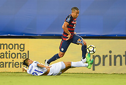 July 19, 2017 - Philadelphia, PA, USA - Philadelphia, PA - Wednesday July 19, 2017: Bryan Tamacas, Justin Morrow during a 2017 Gold Cup match between the men's national teams of the United States (USA) and El Salvador (SLV) at Lincoln Financial Field. (Credit Image: © Brad Smith/ISIPhotos via ZUMA Wire)