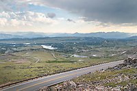 Looking south over Beartooth Highway from Beartooth Pass Wyoming
